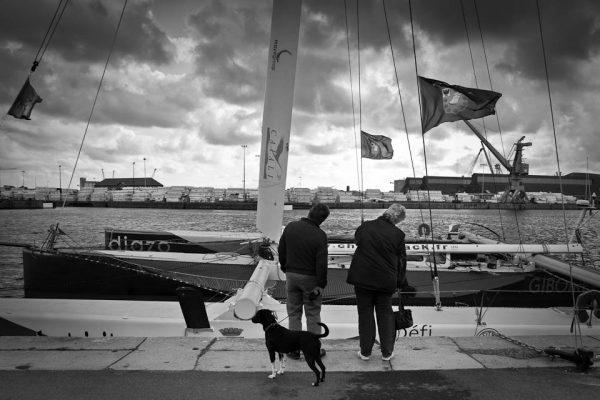 Coup de vent sur le port