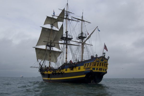 Le Grand Turk est une réplique du HMS Blandford construit en 1741.