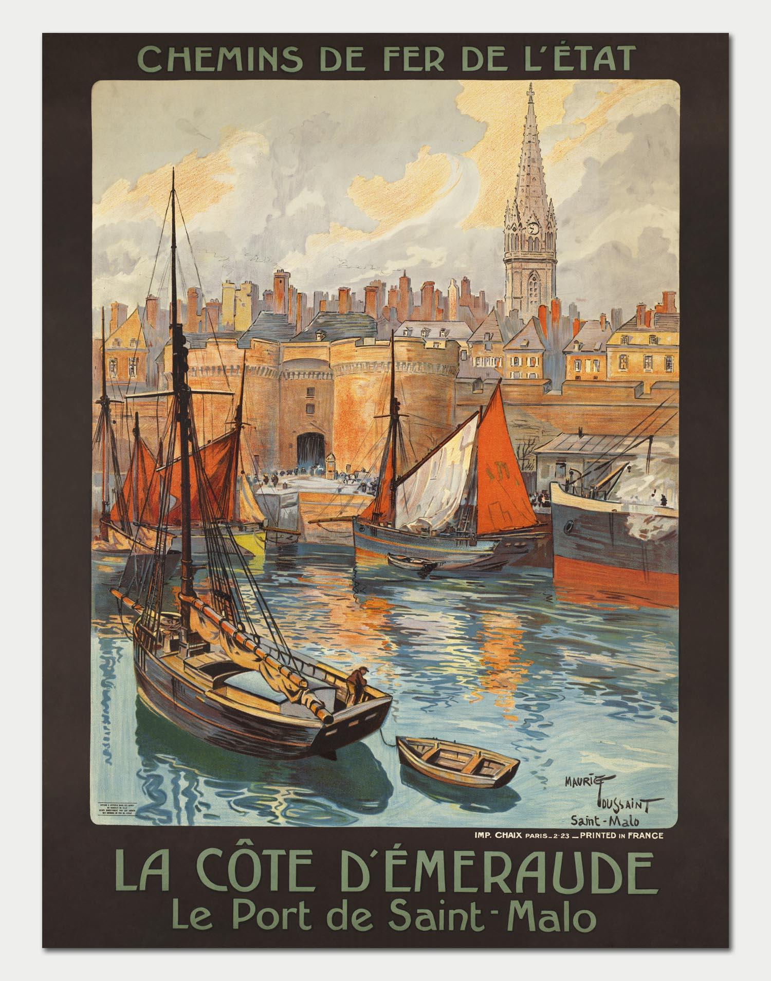 St-Malo 2 Affiche chemin de fer Etat