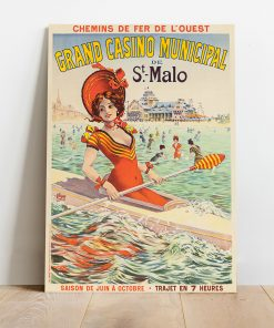 Affiche Le Grand Casino Municipal - Saint-Malo