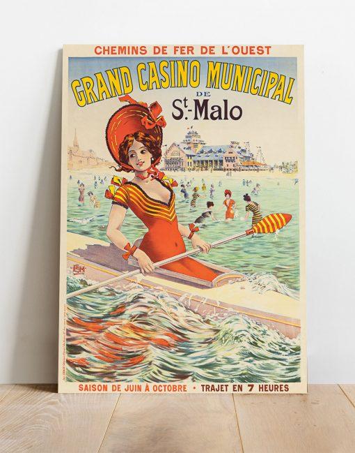 Affiche Le Grand Casino Municipal - Saint-Malo