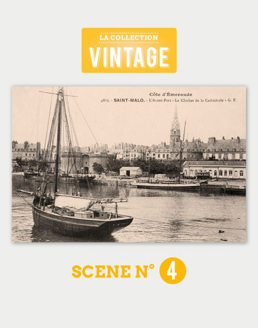 Saint-Malo, l'Avant-port et le Clocher