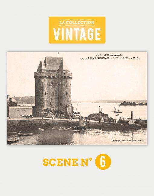 Saint-Malo, la tour Solidor et l'embarcadère de Saint-Servan