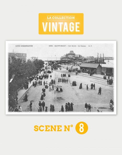 Saint-Malo, l'Esplanade Saint-Vincent un jour de fête