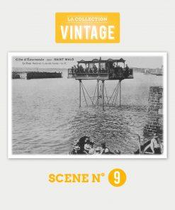 Saint-Malo, le Pont roulant à marée haute