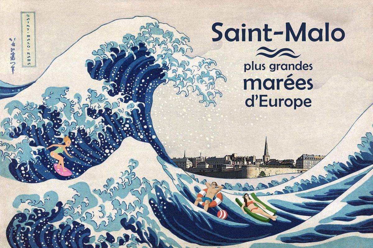 Saint-Malo-Rama revisite la Grande vague d'Hokusai